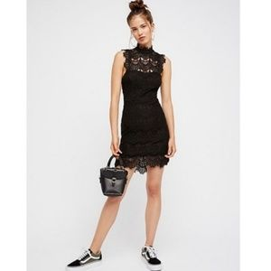 Free People Dresses - Free People Backless Lace Bodycon Dress